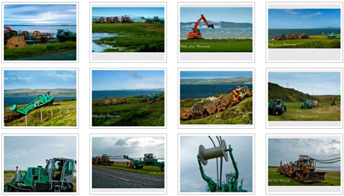 Screenshot of a gallery of pictures of a cable laying project