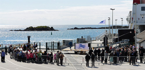 Picture of the Port Ellen pier opening celebrations