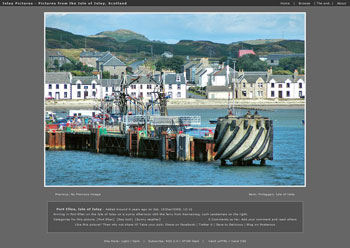 Screenshot of the first post on the Islay Pictures photoblog
