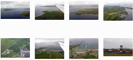 Screenshot of a gallery of Islay from the air pictures