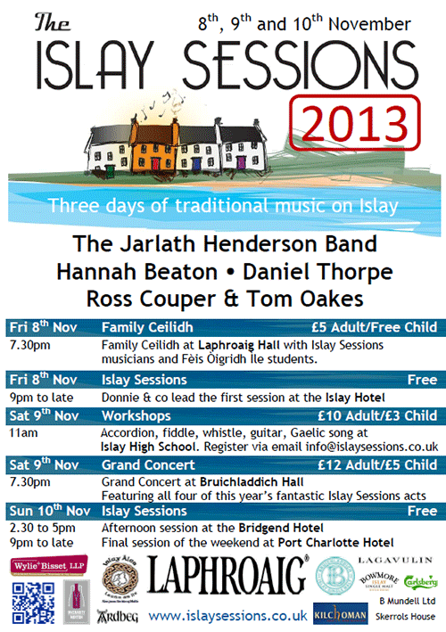 The Islay Sessions 2013 programme