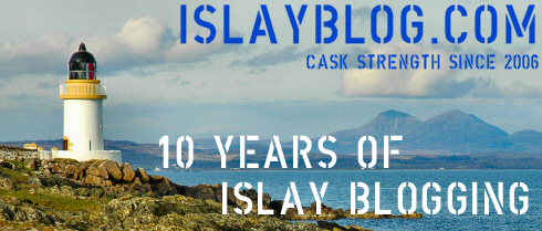 IslayBlog.com banner with added 10 years